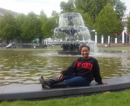 Recent NC State graduate and 2015 Fulbright Scholar Maurita Harris is helping develop a video game in Berlin that will teach German Sign Language
